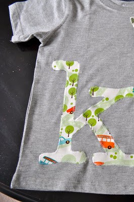 appliqué letters tutorial using scrap fabric