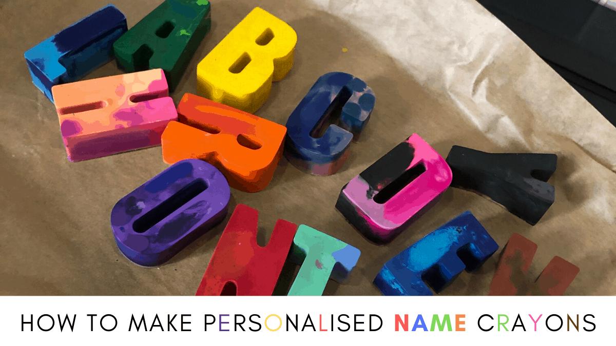 personalised name crayons tutorial