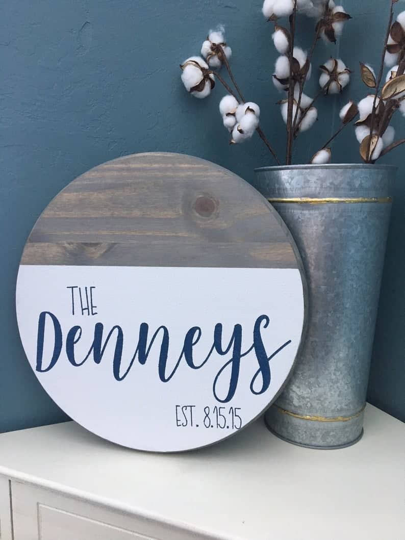 personalised wooden sign gift