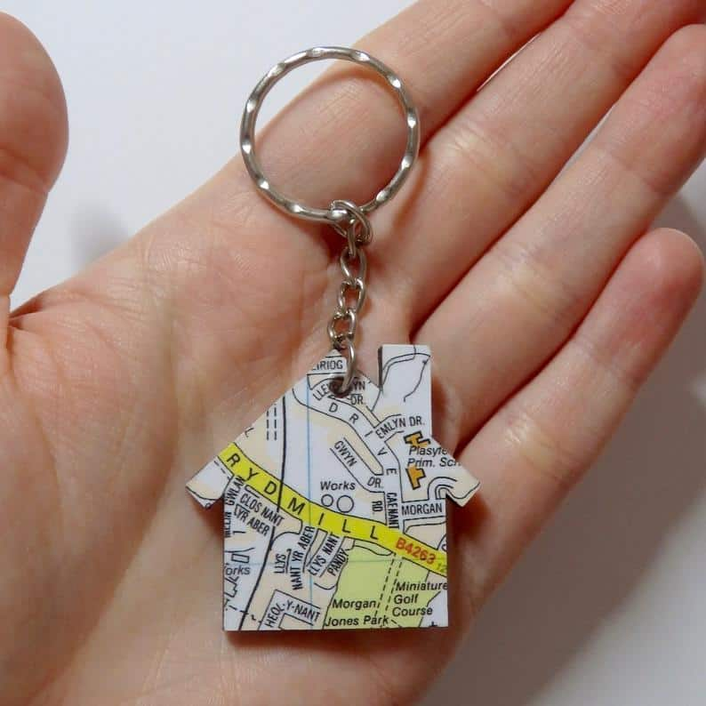 DIY personalised map keychain