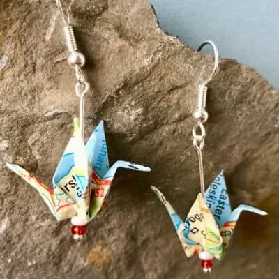 jewellery gifts on Etsy - vintage map earrings