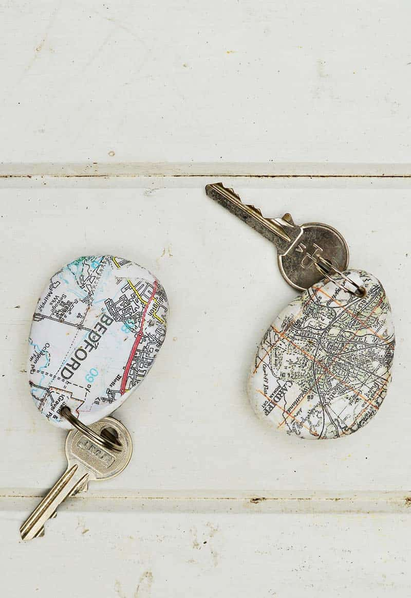 diy personalised map keyring