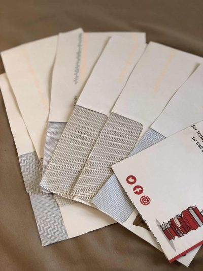 junk mail envelopes for upcycling