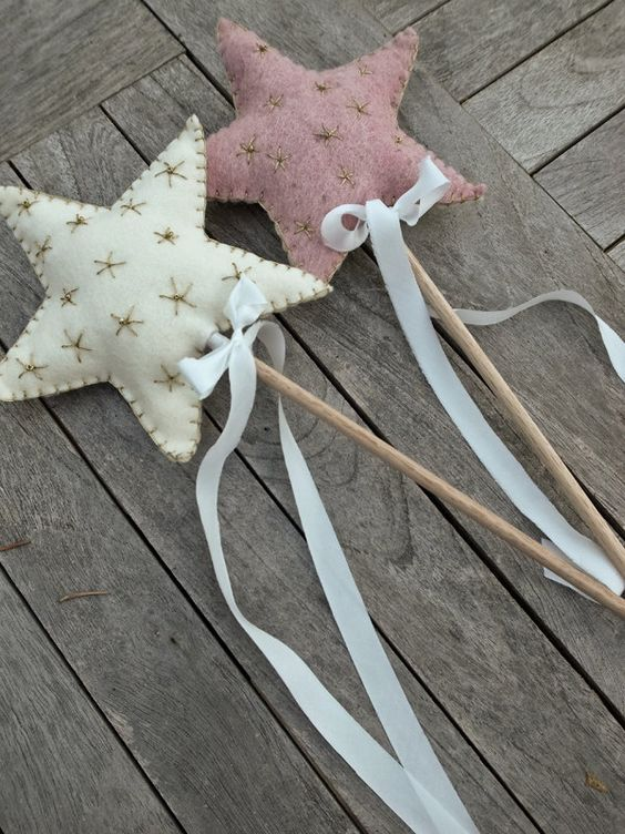 upcycle fabric scraps to make a star wand