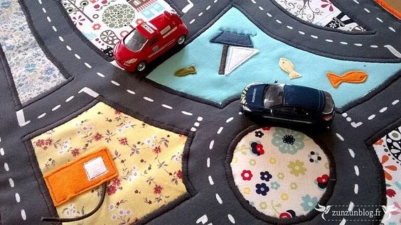 car mat made from upcycled fabric scraps
