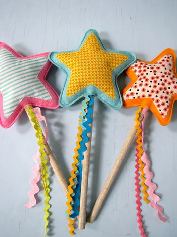 star wand from upcycled fabric scraps