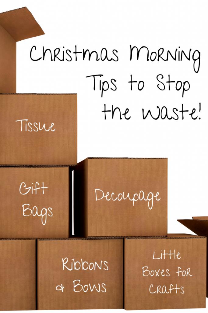 organise christmas morning to reduce waste