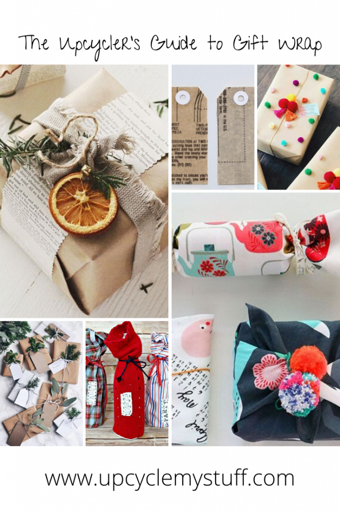 Upcycled gift wrap
