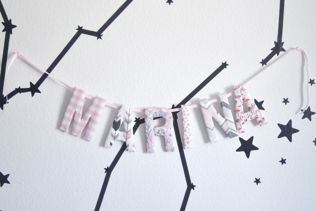 no sew fabric name garland