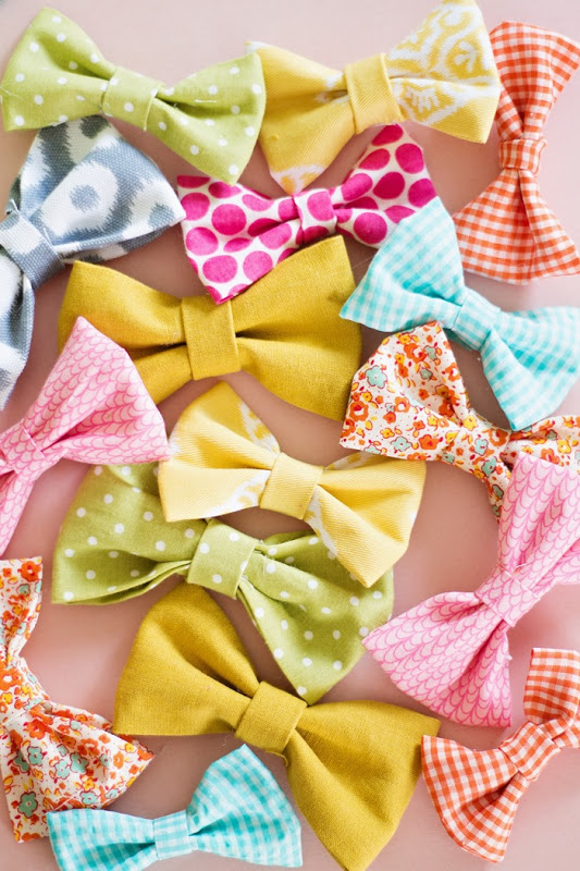 how to make fabric bows from scrap fabric