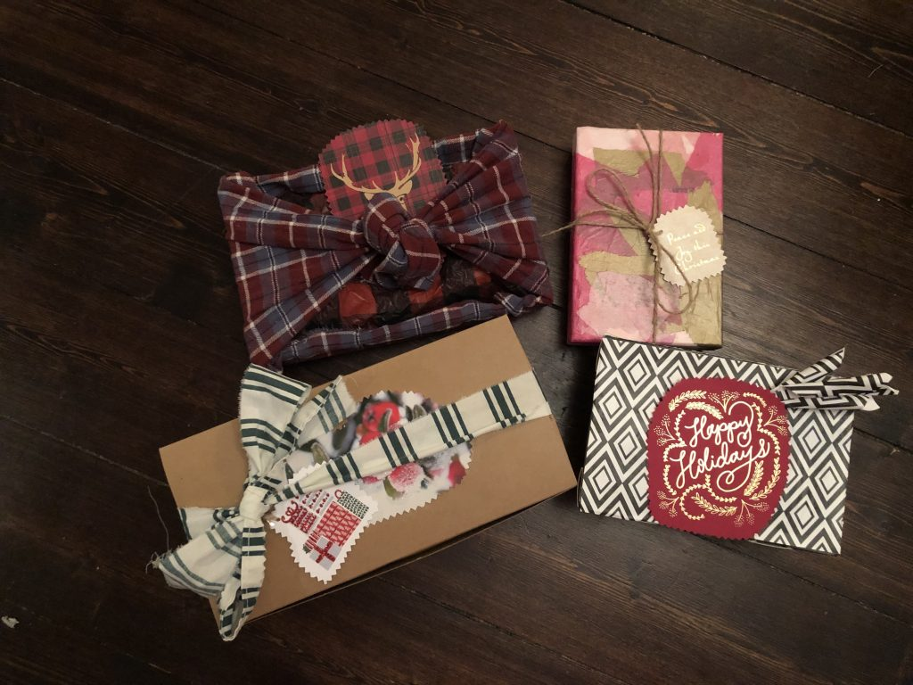 upcycled gift boxes from packaging