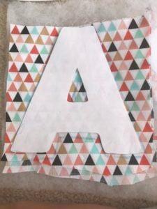 scrap fabric letters