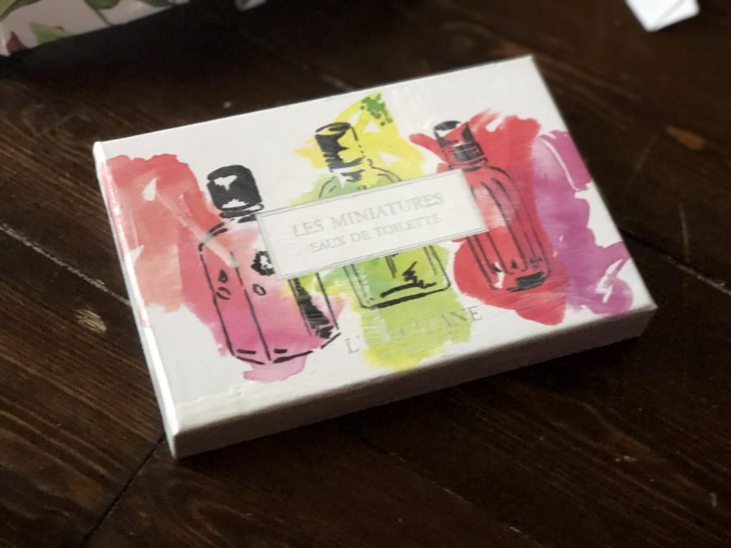 cardboard packaging reused as gift box