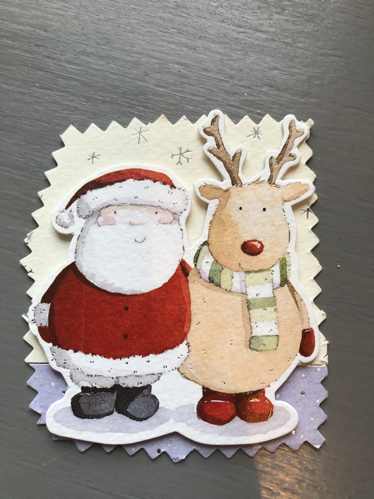 christmas cards reused as gift tags