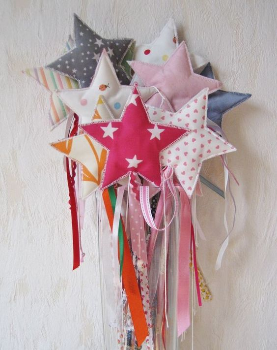 fairy wand made from scrap fabric