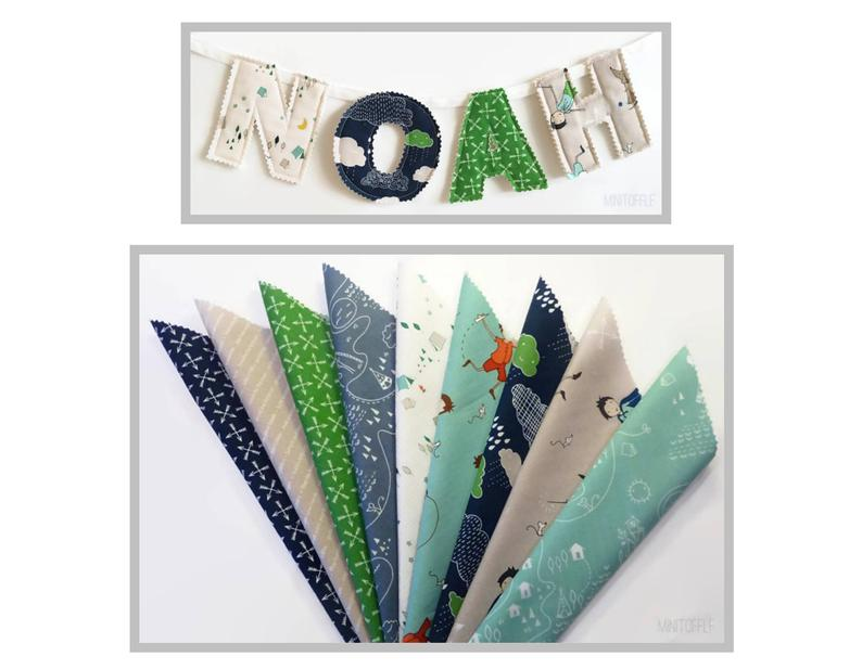 scrap fabric name garland