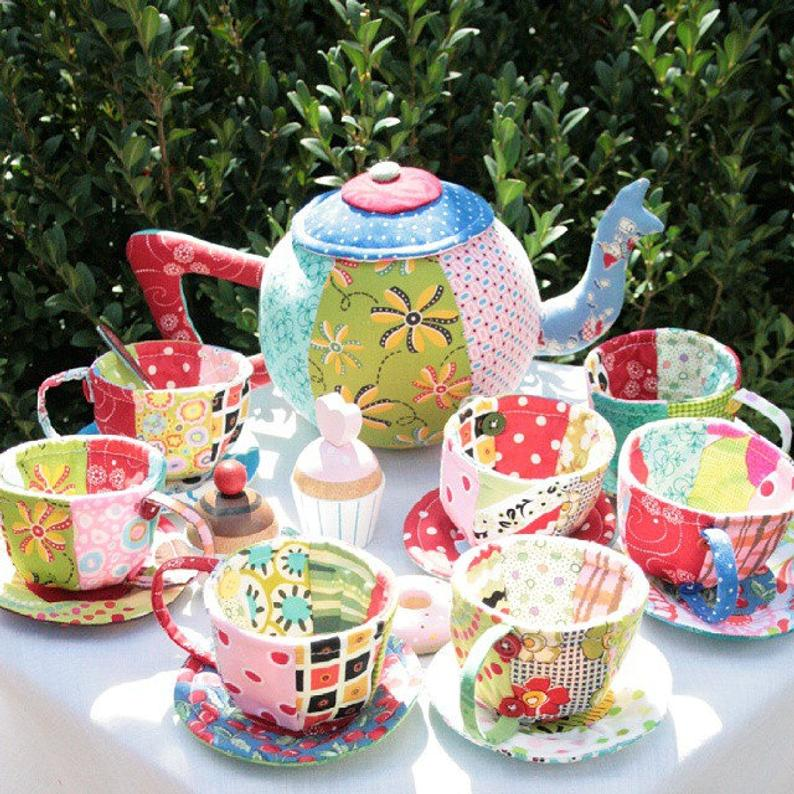 patchwork tea set tutorial
