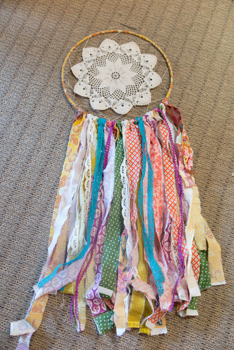 scrap fabric dream catcher tutorial