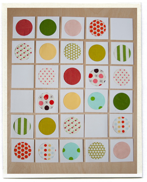 memory game gift from scrap fabric