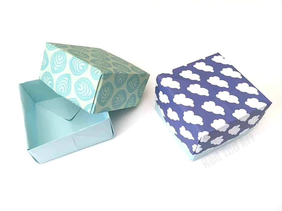 make a gift box from paper