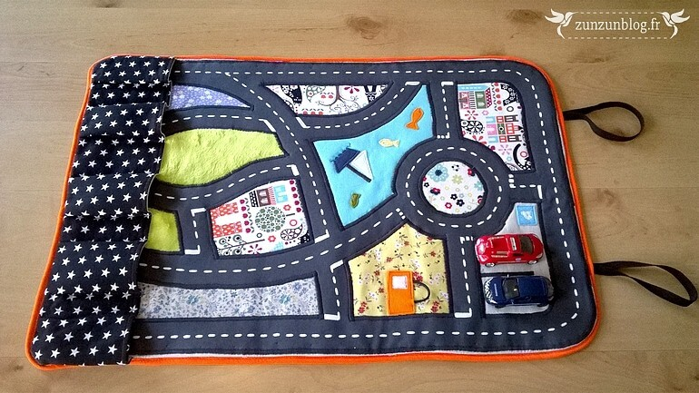 roll up car mat tutorial from scrap fabric