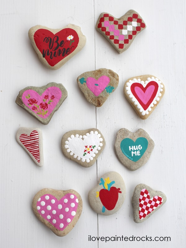 keepsake valentines gift painted rocks handmade valentine's day gift
