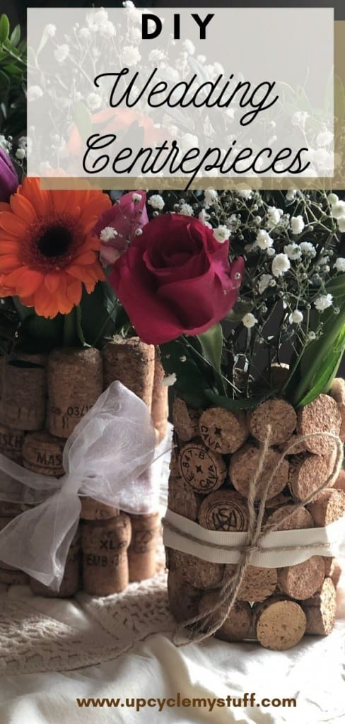 DIY wedding centrepieces