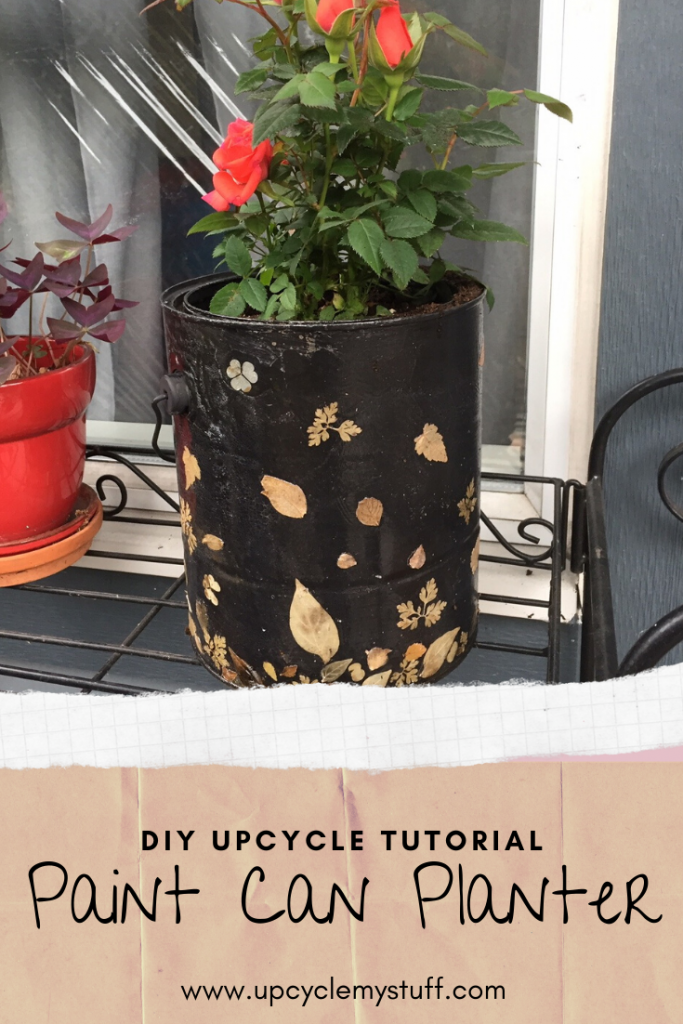 DIY planters made from empty paint cans