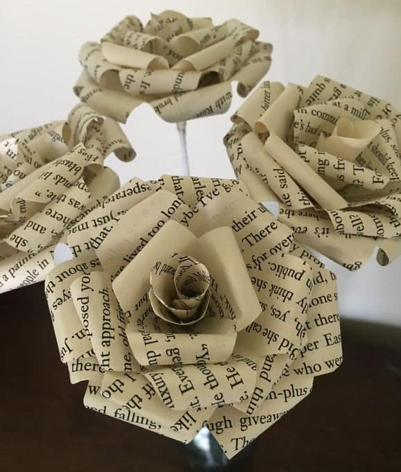 book paper flowers tutorial handmade valentines day gift