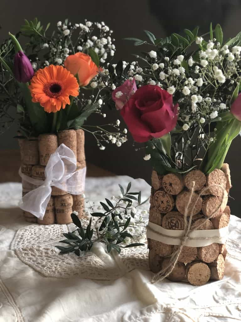 diy rustic wedding centrepiece