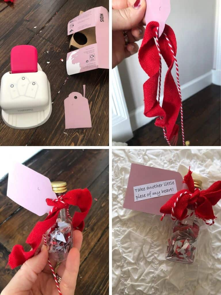 DIY valentines day gift tag
