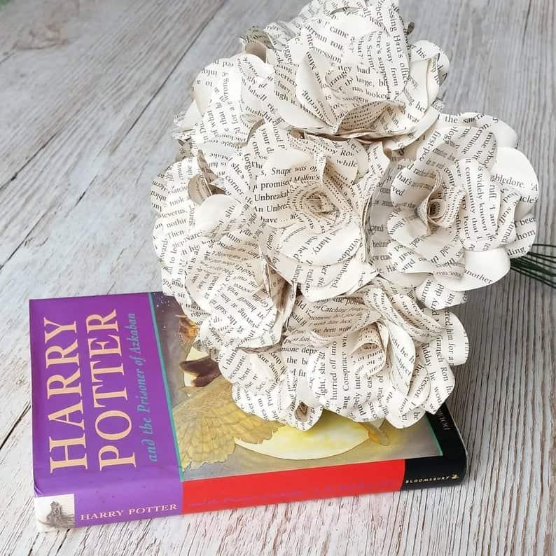 book flowers handmade gift idea