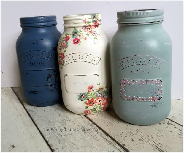 kilner jars paint and decoupage tutorial handmade valentine's day gift