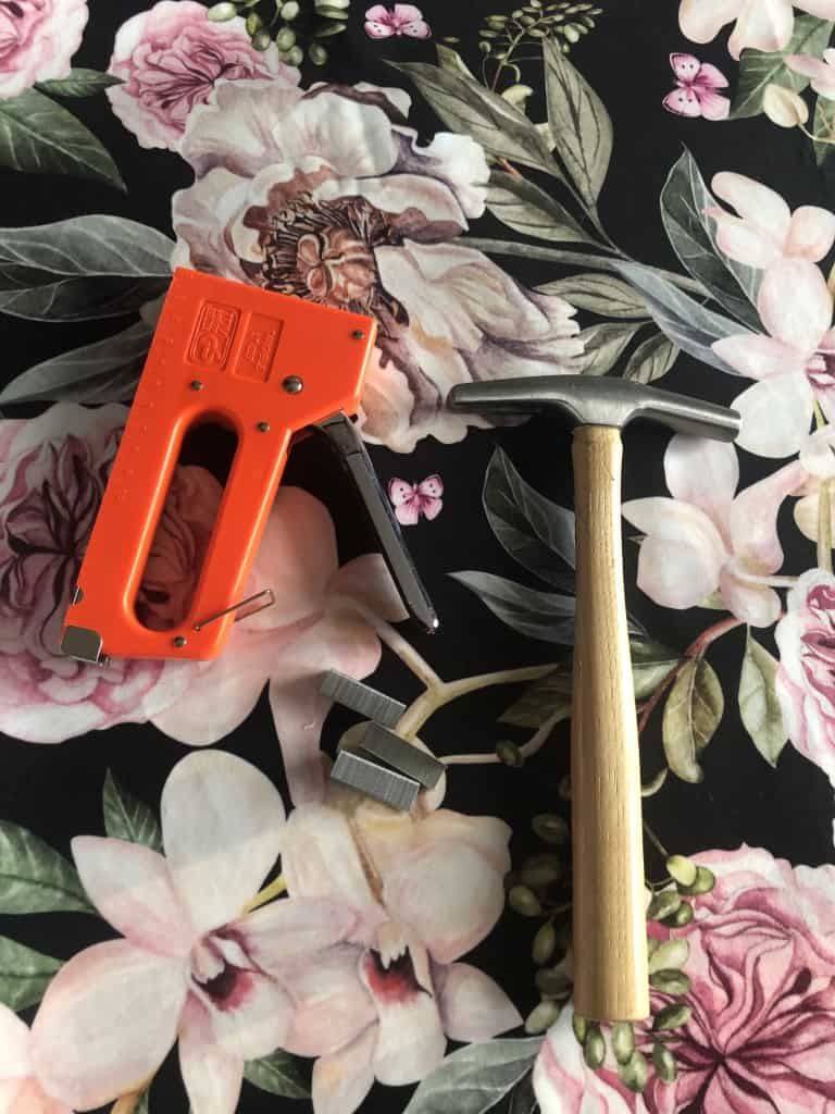 how to reupholster a headboard - tools