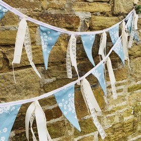 wedding bunting to rent or buy upcycled