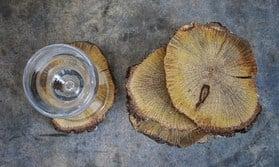 DIY rustic wedding wooden coasters