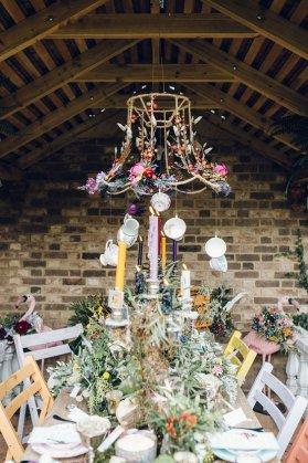 DIY wedding whimsical lampshade decor