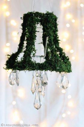 DIY wedding moss chandelier