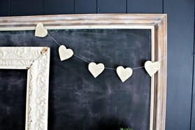 heart garland from old book pages diy wedding ideas