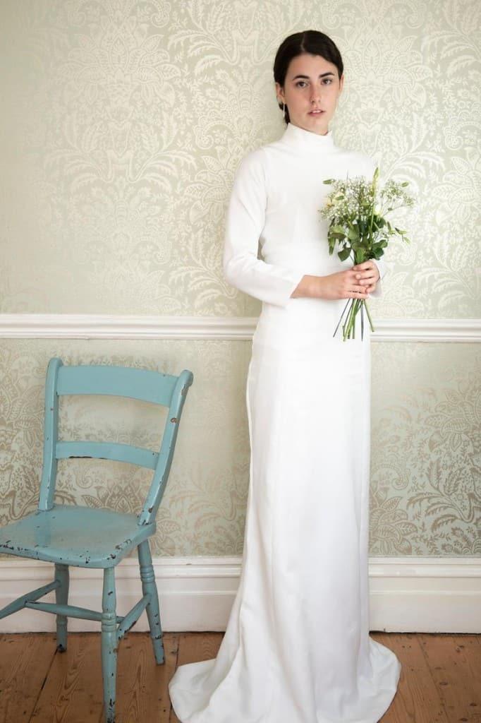 upcycled 1970s wedding dress