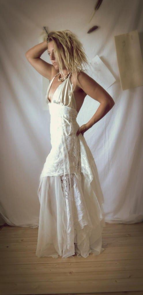 upcycled boho wedding dress