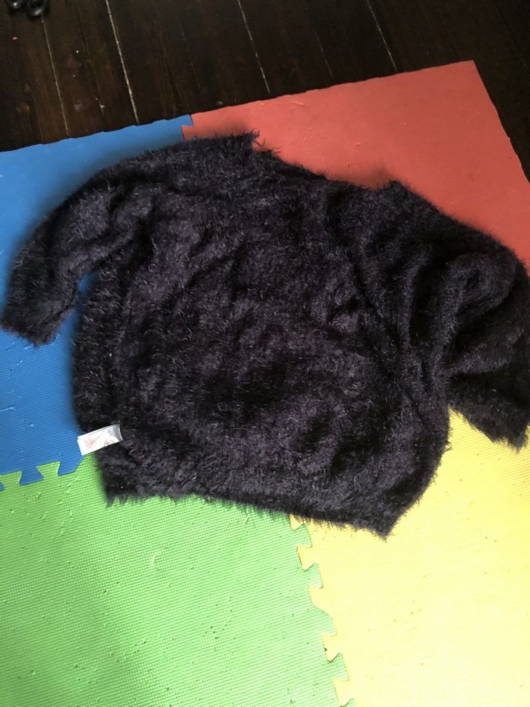sweater for rag rug project