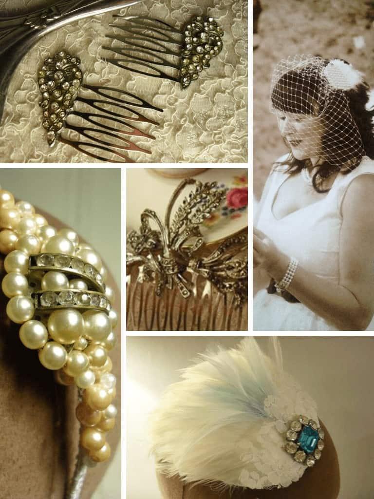 DiY wedding ideas - vintage bridal headpieces