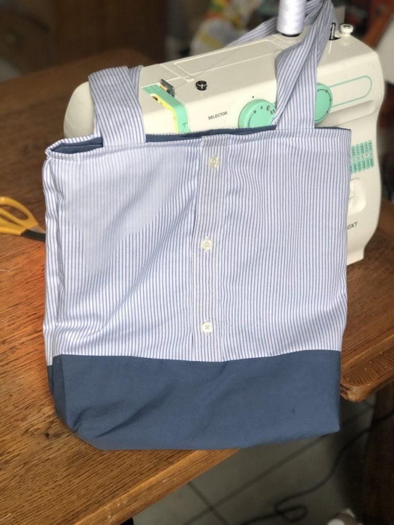 DIY tote bag idea mens shirt