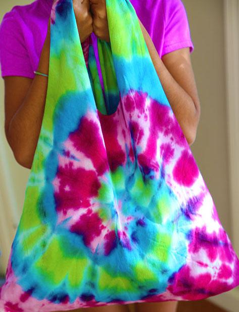 diy tote bag ideas - tie dye bag