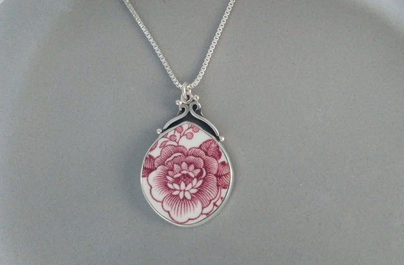 broken china necklace mothers day gift on etsy