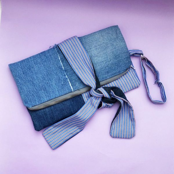 denim clutch bag for mothers day gift