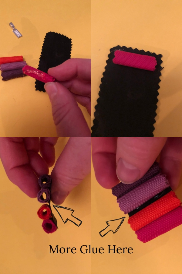 DIY neckalce pendant from fabric samples