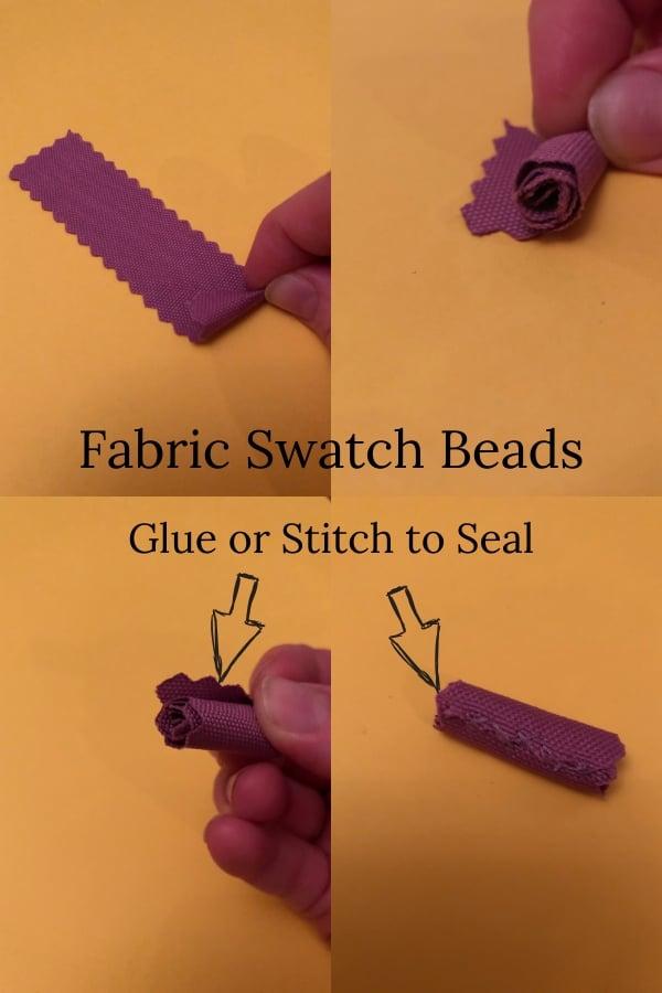 fabric swatch beads