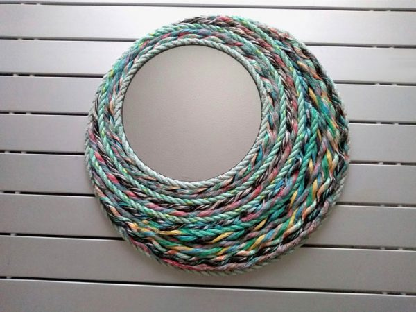 upcycled fishing net mirror mothers day gift idea